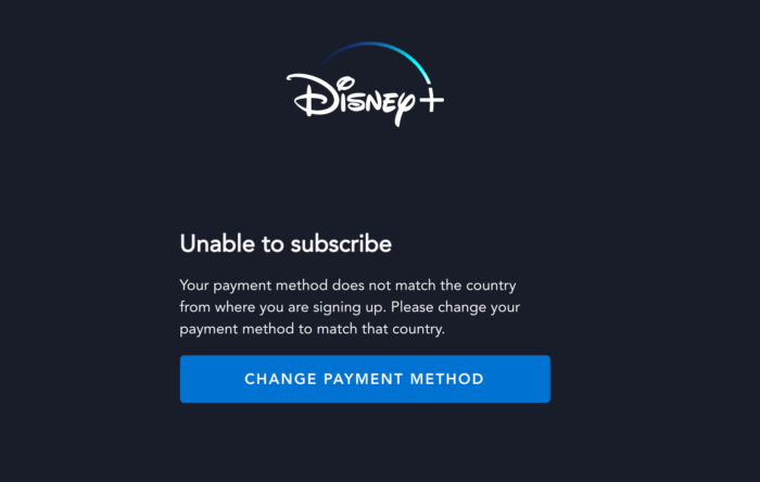 disney+ bloqué sans VPN