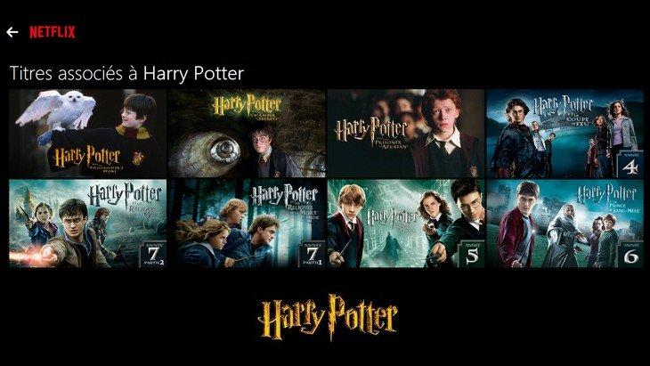 Tous les films Harry potter disponibles sur Netflix