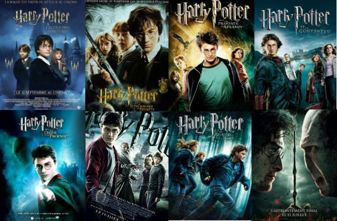 tous les films de la saga Harry Potter
